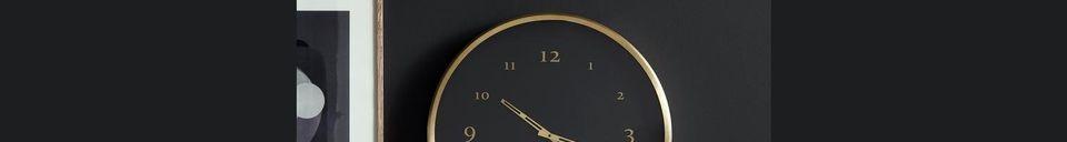 Descriptivo Materiales  Reloj de pared de metal Saisy
