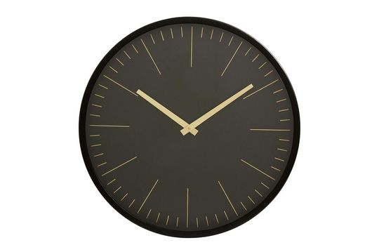 Reloj de pared Onix negro y oro Clipped