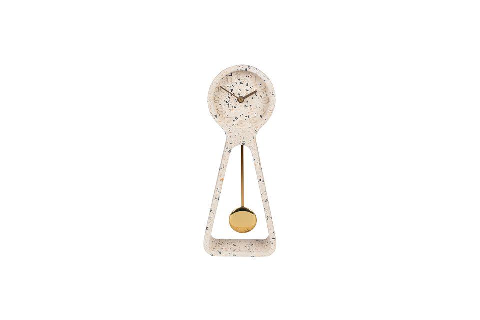 Reloj de péndulo Time terrazo blanco - 9