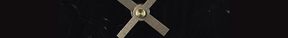 Descriptivo Materiales  Reloj Marble Time negro