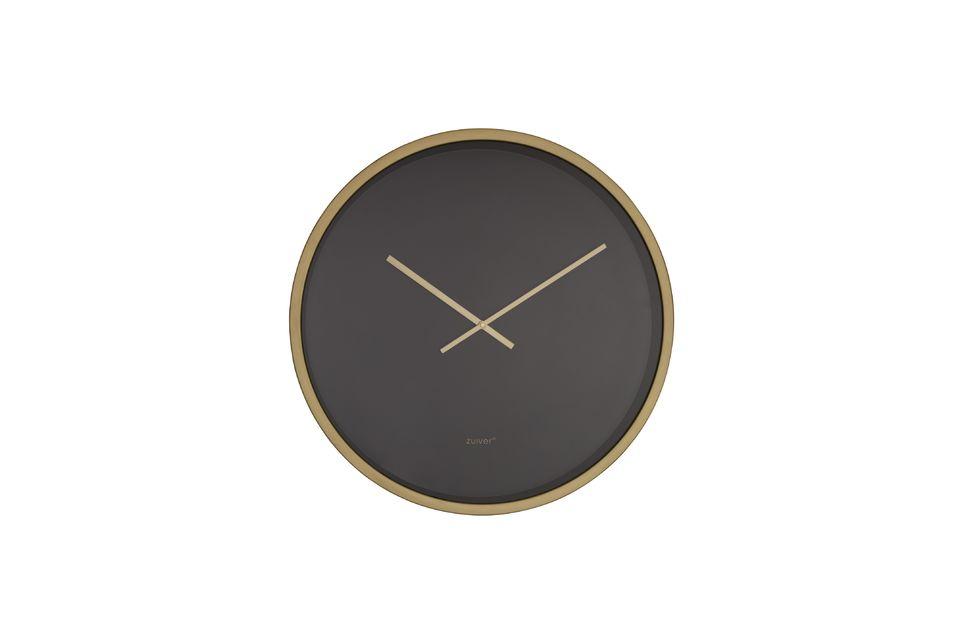 El reloj del Bandido del Tiempo en negro / latón ofrece un diseño simple pero efectivo