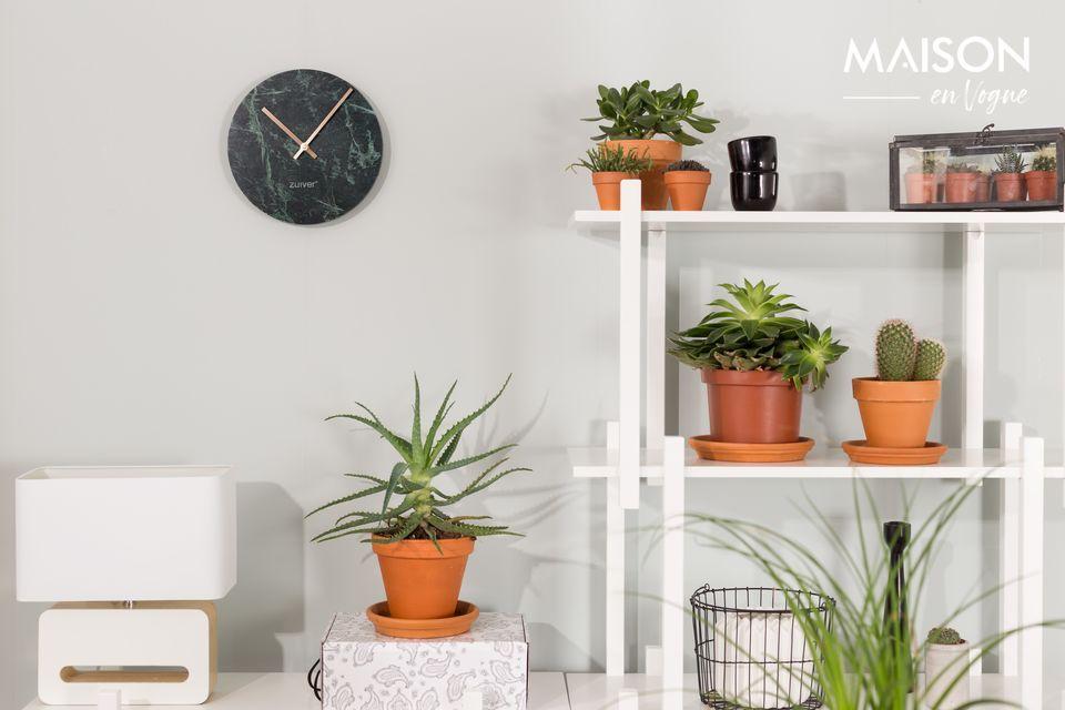 Reloj Time en mármol verde Zuiver