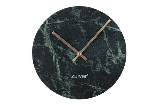 Reloj Time en mármol verde Clipped