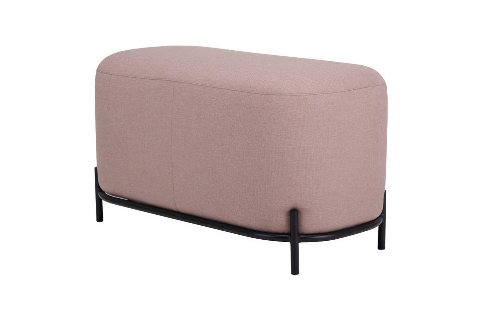 ¡Pero qué estilo! Este encantador puf de poliéster de color rosa viejo en polvo desarrolla una