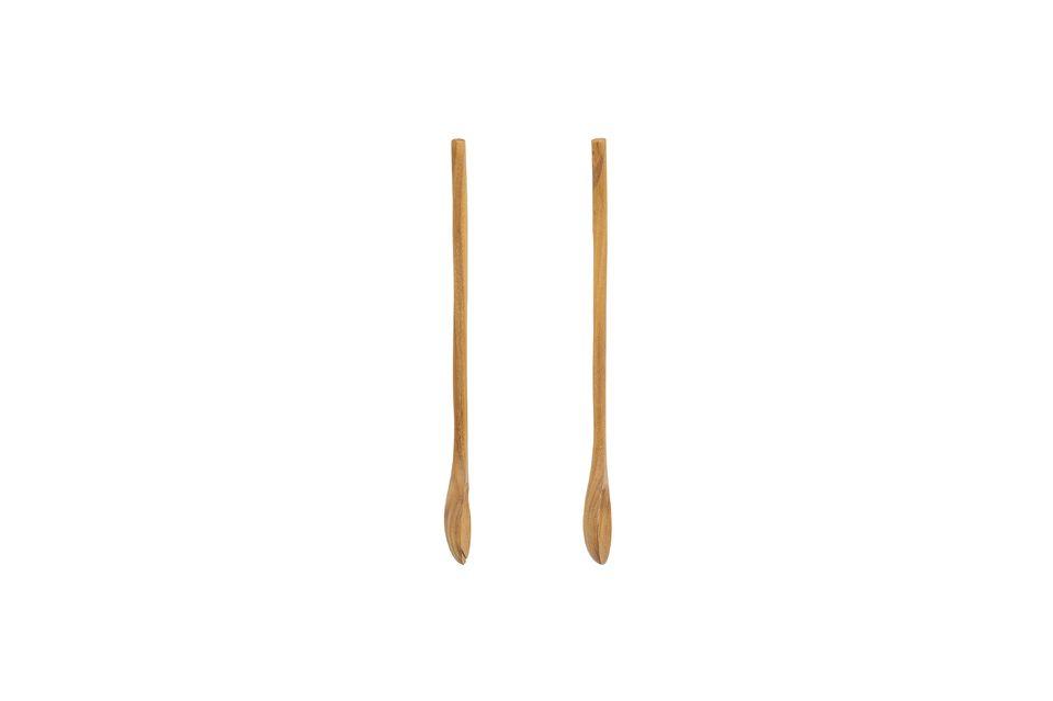 Sus servidores de ensalada de madera juegan con los códigos estéticos mezclando el lado natural y