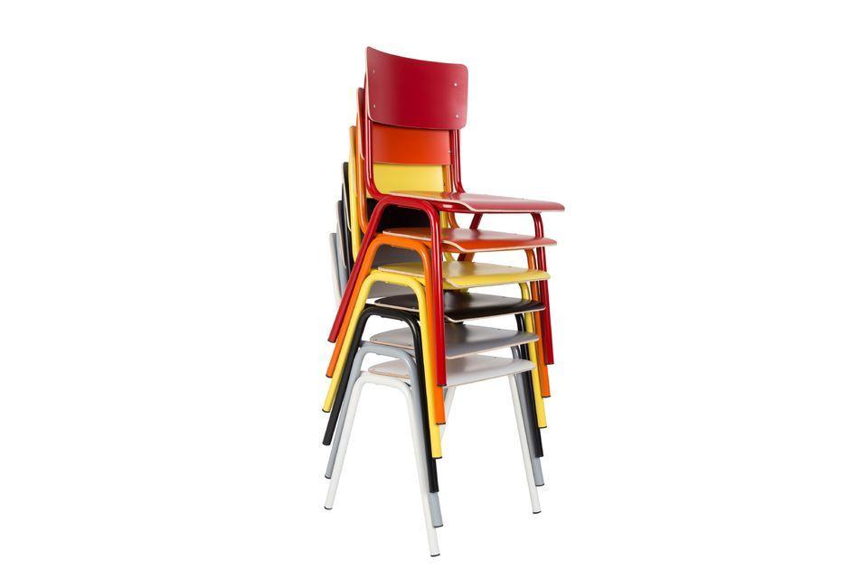 Placa de respaldo y asiento, estructura de acero y piernas, El regreso a la escuela es seguro
