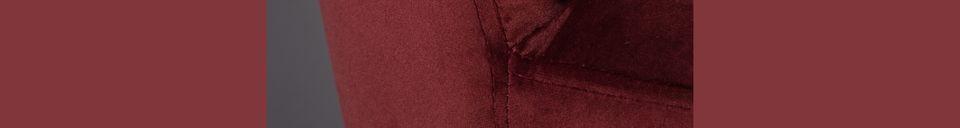 Descriptivo Materiales  Silla Barbara en terciopelo rojo