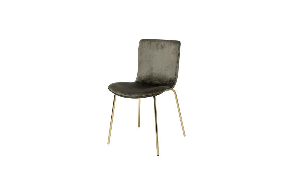 Esta silla con estampado de terciopelo de poliéster