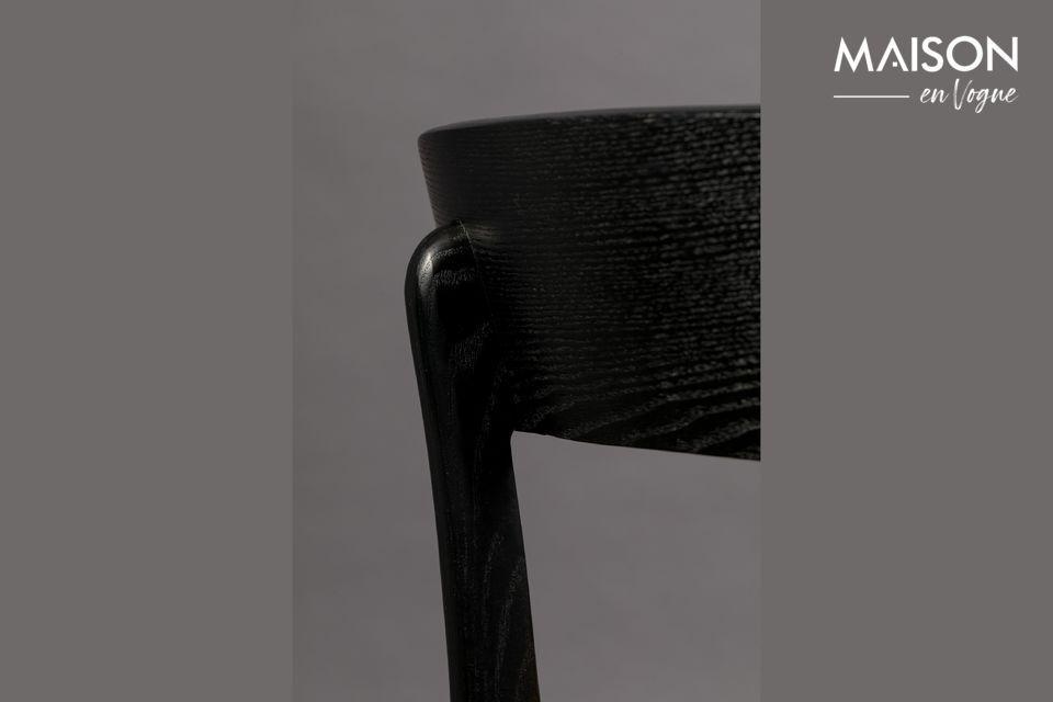 Silla Brandon de terciopelo y madera negra - 5