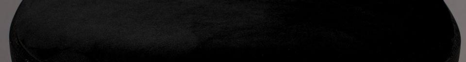 Descriptivo Materiales  Silla Brandon de terciopelo y madera negra
