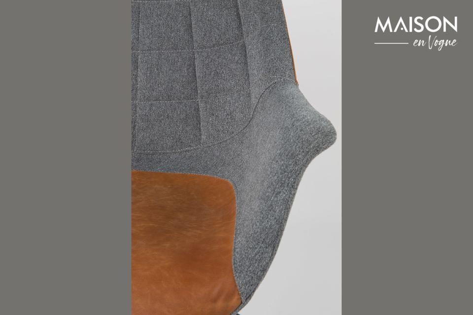 Silla de oficina Doulton Vintage Brown - 5