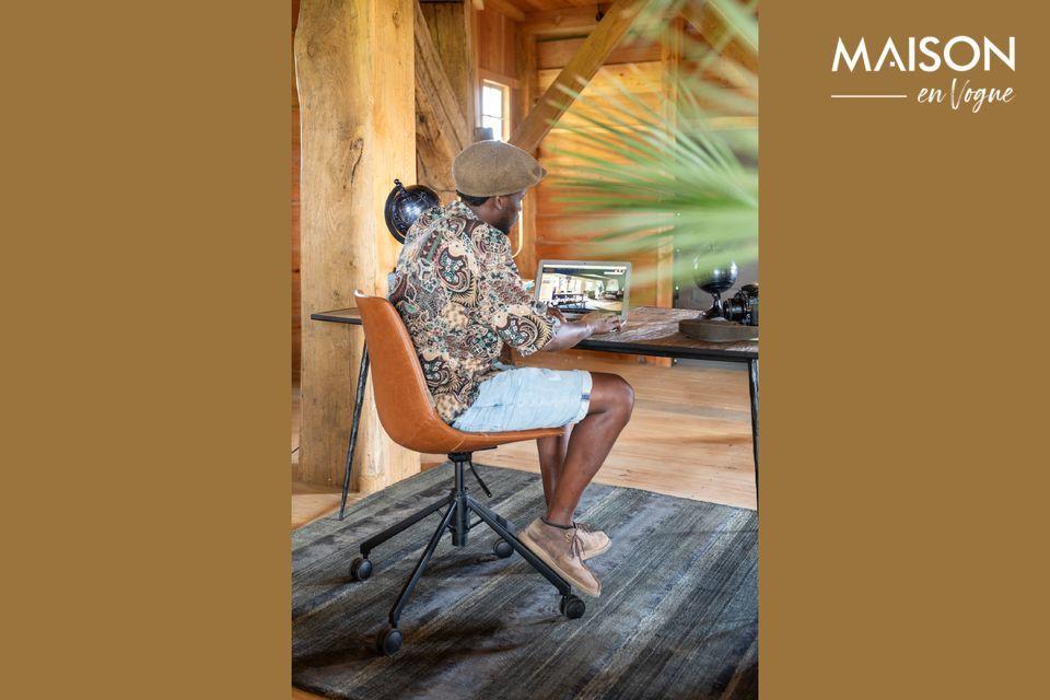 Una silla de oficina con un diseño contemporáneo y altura ajustable