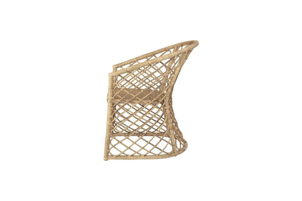 Esta silla de mimbre propuesta por Bloomingville muestra excelentes acabados