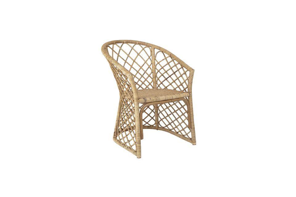 La atmósfera de la naturaleza con esta silla de ratán