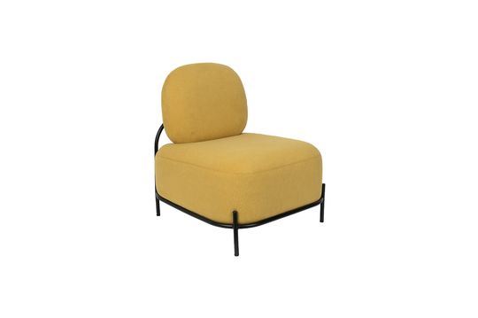 Silla de salón amarillo Polly Clipped