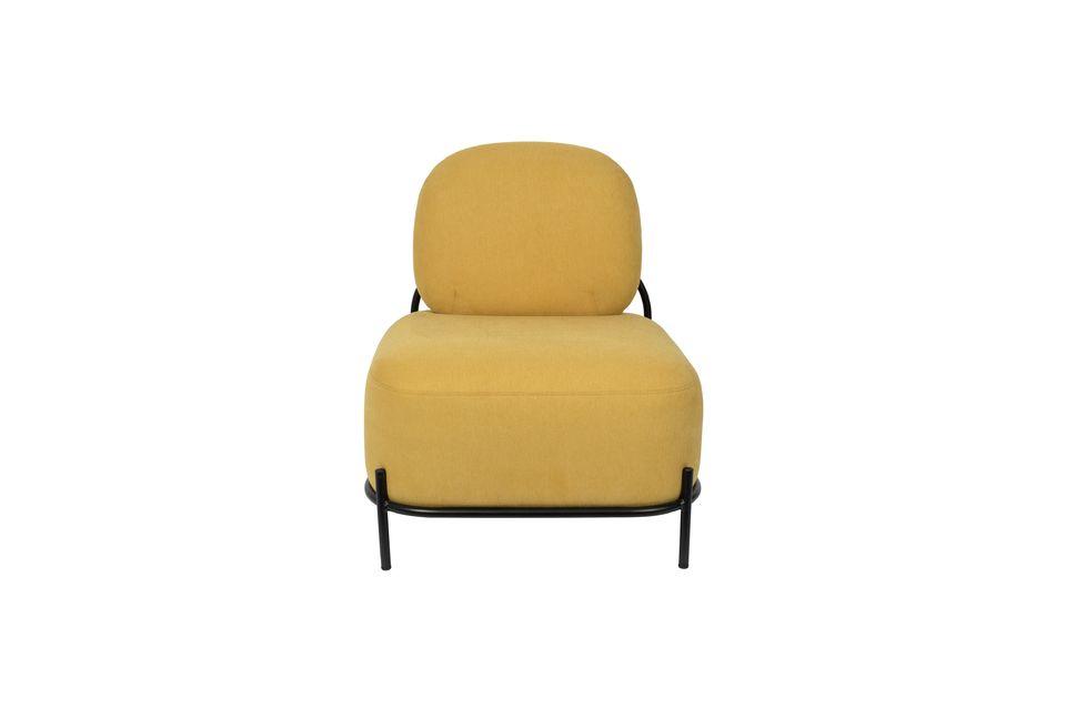 Silla de salón amarillo Polly - 7