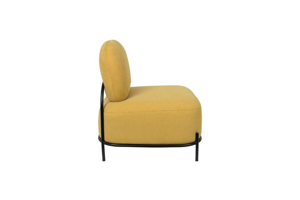 Silla de salón amarillo Polly - 8