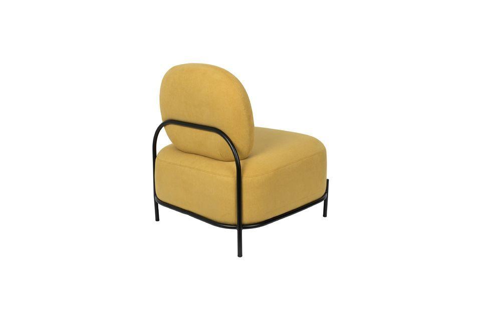 Silla de salón amarillo Polly - 9