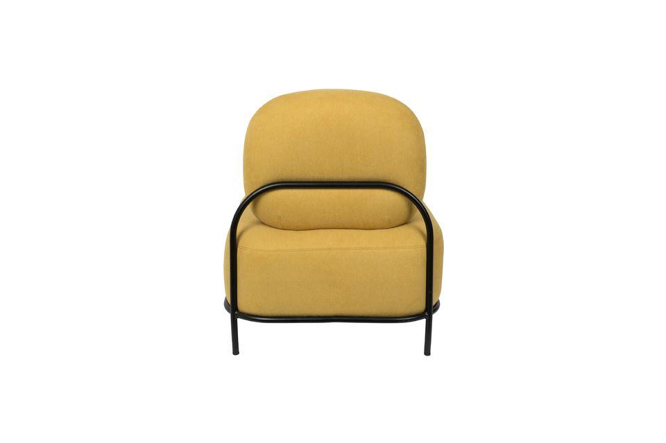 Silla de salón amarillo Polly - 10