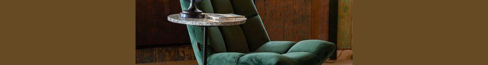Descriptivo Materiales  Silla de salón Bar de terciopelo verde