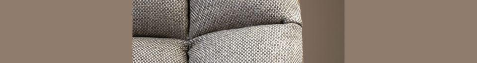 Descriptivo Materiales  Silla de salón Brandivy Bar gris claro