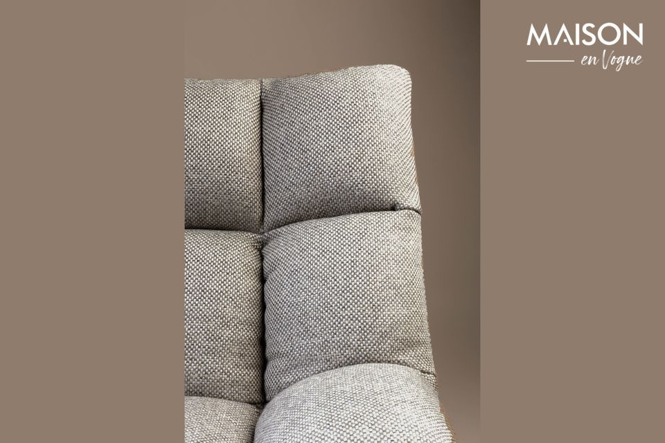 Esta silla de minibar de color gris claro Brandivy encaja de forma natural en un loft