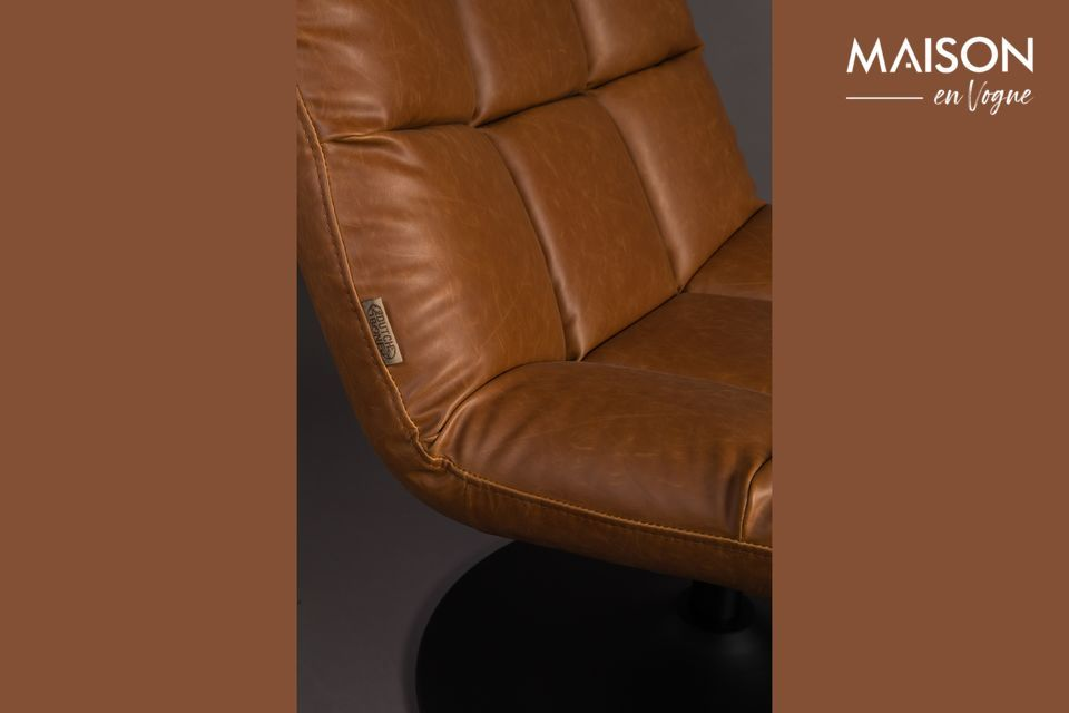 Silla de salón de bar vintage marrón - 8