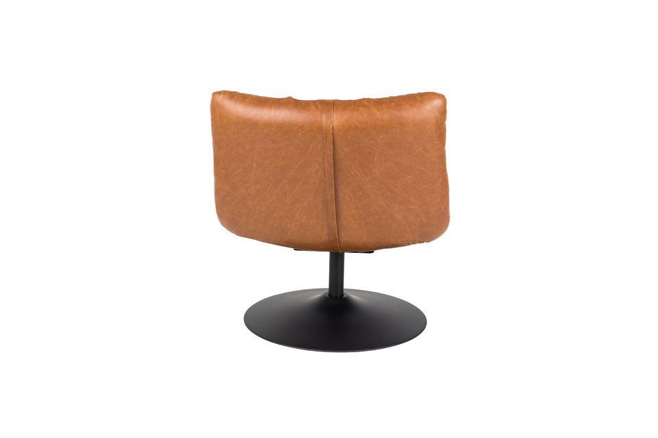 Silla de salón de bar vintage marrón - 12