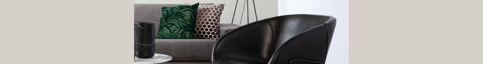 Descriptivo Materiales  Silla de salón Feston negro