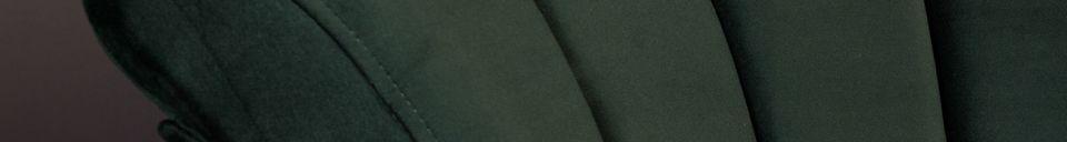 Descriptivo Materiales  Silla de salón Flair verde oscuro