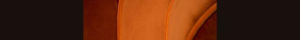 Descriptivo Materiales  Silla de salón Fleur naranja