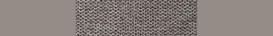 Descriptivo Materiales  Silla de salón Jolien negro y gris