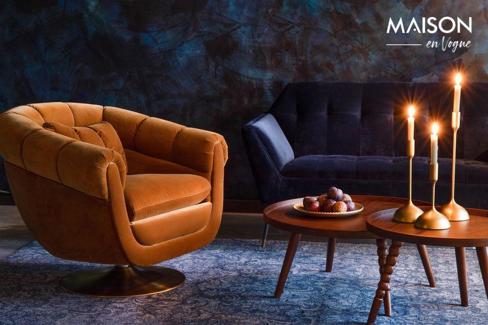 La silla de salón Whisky Member es perfecta para crear un ambiente acogedor y cálido en su casa
