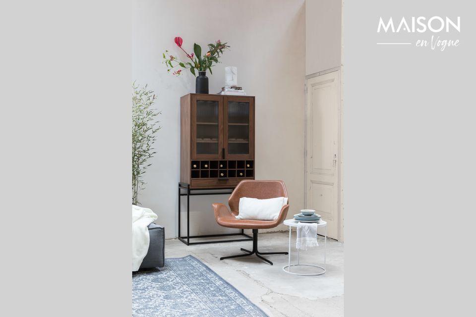 Elegante sillón de cuero PU