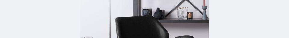 Descriptivo Materiales  Silla de salón Nikki negro