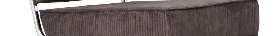 Descriptivo Materiales  Silla de salón Ridge Rib gris con apoyabrazos