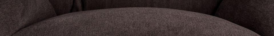 Descriptivo Materiales  Silla de salón Rocky oscuro