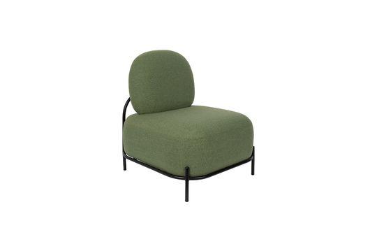 Silla de salón verde Polly Clipped