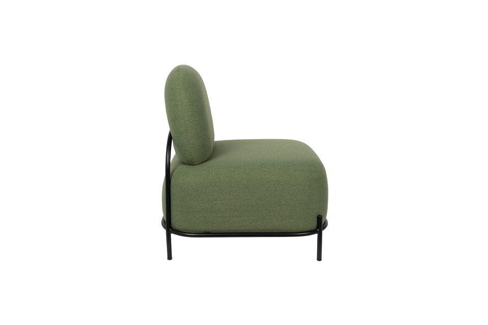 El asiento es de un elegante color verde que se mantiene sobrio para garantizar la intemporalidad