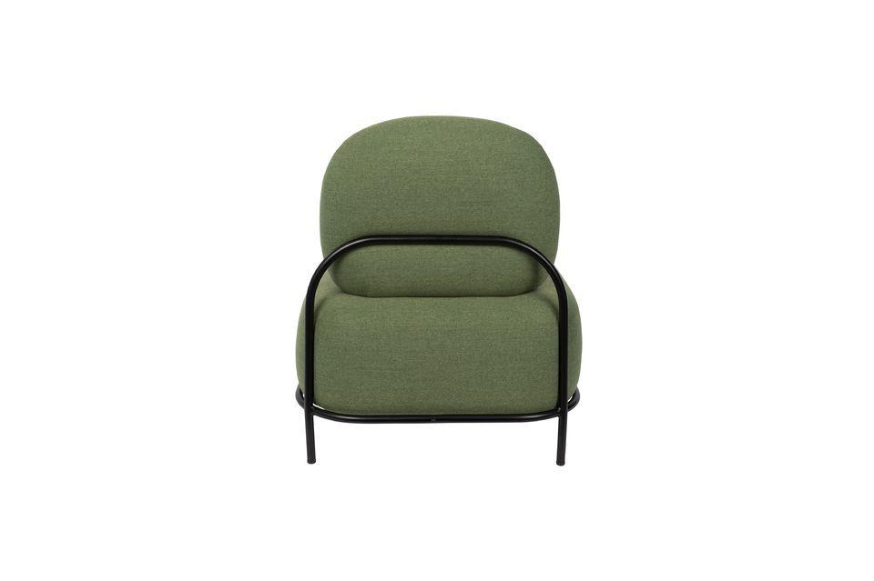 Silla de salón verde Polly - 8