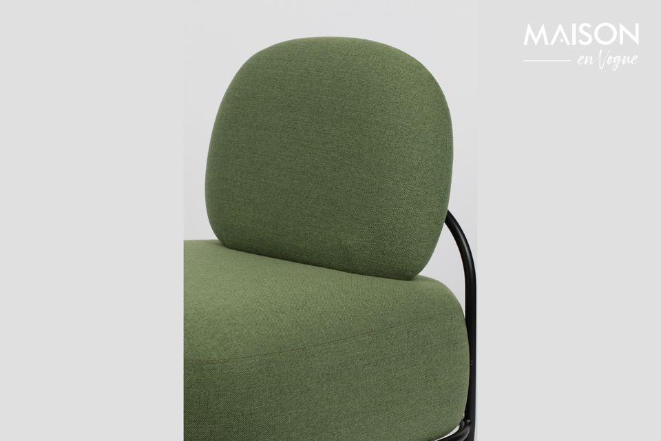 Una silla de diseño y cómoda