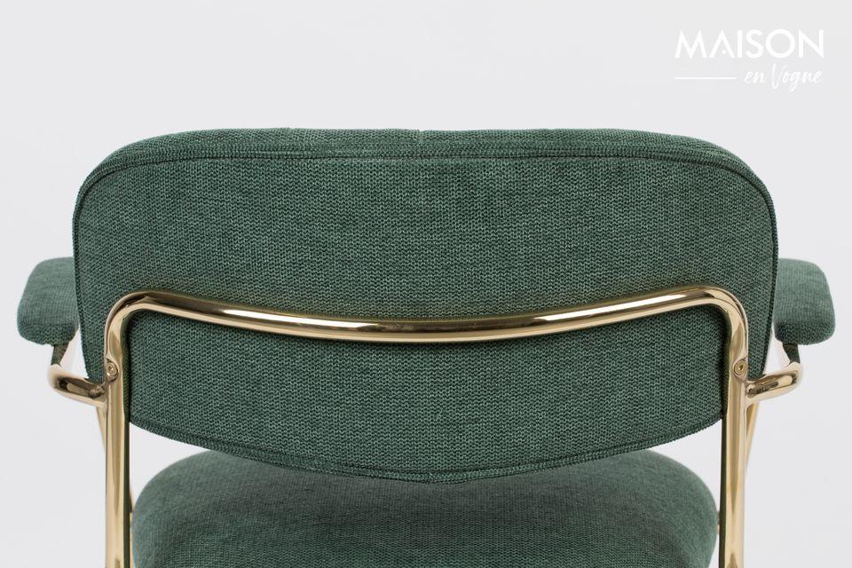 Esta hermosa, espaciosa y cómoda silla es una mezcla de poliéster (95%) y nylon (5%)