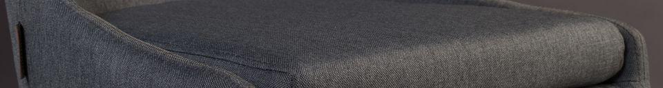 Descriptivo Materiales  Silla Juju en tejido gris