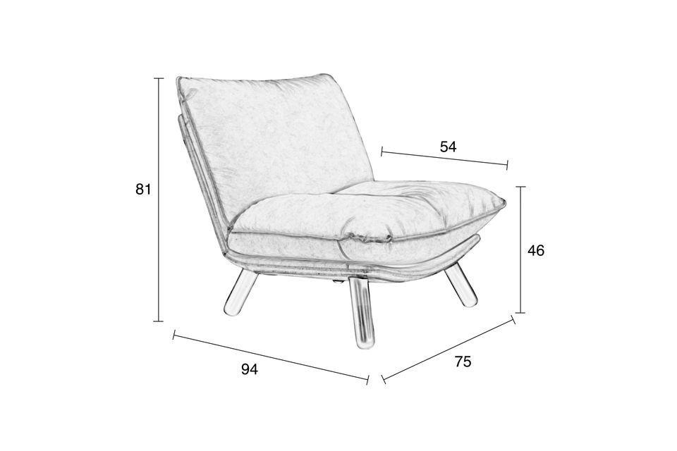 Silla Lazy Sack gris claro - 5