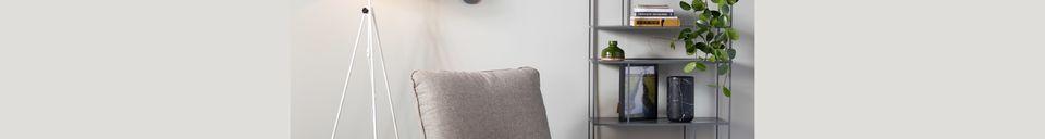 Descriptivo Materiales  Silla Lazy Sack gris claro