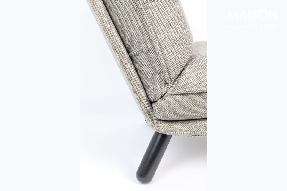 En tejido gris