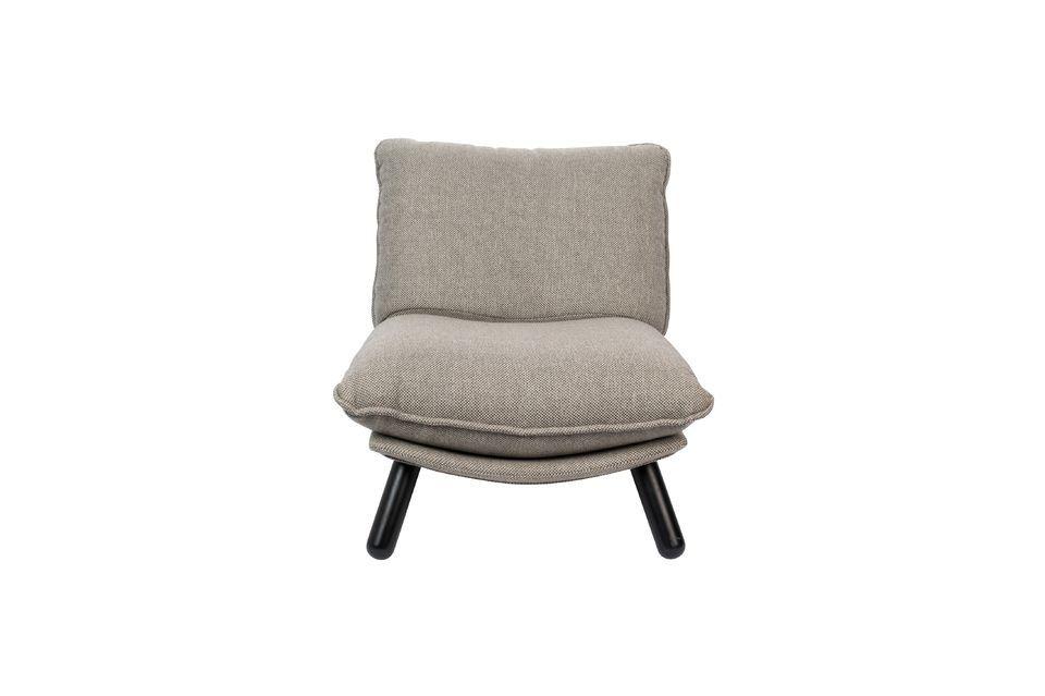 Silla Lazy Sack gris claro - 10