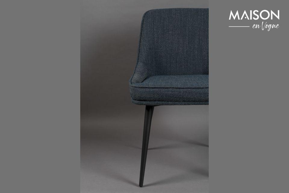 Silla Magnus de tela azul - 6