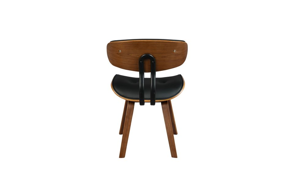 Silla negra Wood marrón y negra - 9