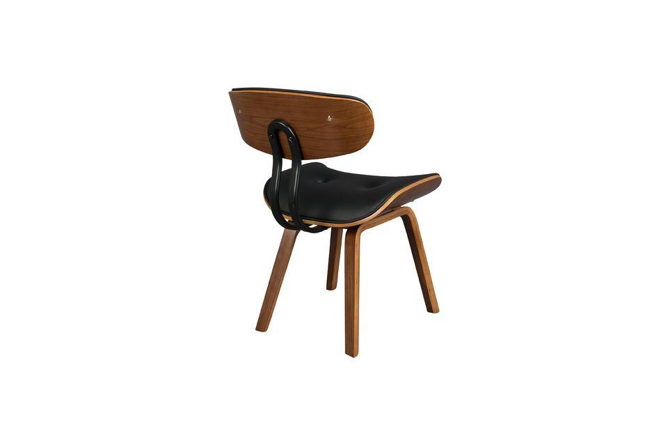 Silla negra Wood marrón y negra - 10
